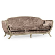 Empire Sofa - Grey Weathered & Velvet Truffle