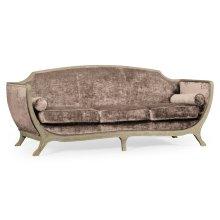 Empire Sofa - Grey Weathered & Velvet Truffle
