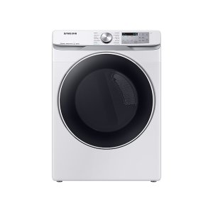 7.5 cu. ft. Smart Electric Dryer with Steam Sanitize+ in White Product Image