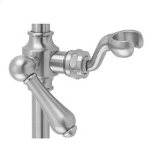 Polished Nickel - Replacement Fork Slider with Regency Lever Handle for Traditional Wall Bar