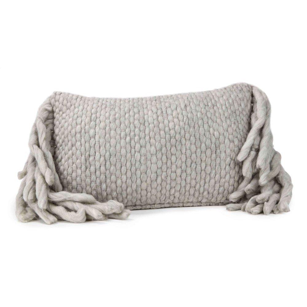 Afrino Wool Grey Pillow