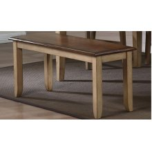 DLU-BR-BENCH-PW-RTA  Bench in Wheat with Pecan Seat