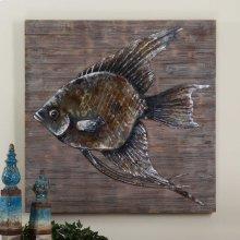 Iron Fish Metal Wall Decor
