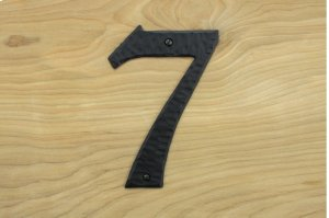 "7 Black 6"" Mailbox House Number 450150 Product Image"