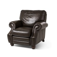 Stanton Leather Reclining Chair in Vintage Espresso