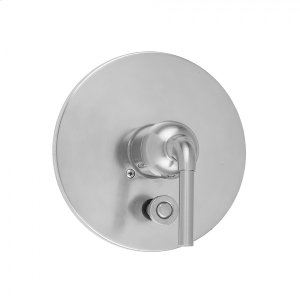 Antique Brass - Round Plate With Straight Lever Trim For Pressure Balance Valve With Built-in Diverter (J-DIV-PBV) Product Image