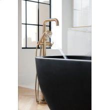 Single-handle Floor Mount Tub Filler - Less Handle