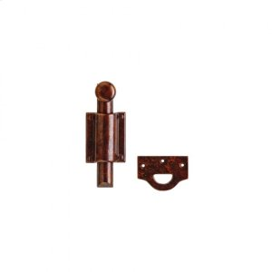 Dutch Door Bolt, Rectangular Mounting Brackets - DDB7 Silicon Bronze Brushed Product Image