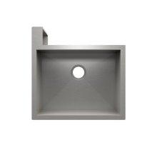 "SocialCorner® 005300 - undermount with apron front stainless steel Kitchen sink , 23"" × 18"" × 10"" Left corner"