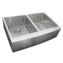 33 Inch Double Bowl Farmhouse Apron Front Stainless Steel Kitchen Sink