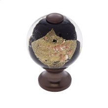 Old World Bronze 30 mm Black Knob
