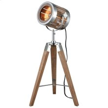 Picfair Table Lamp In Natural Wood and Metal