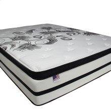 """Queen-Size Brylee 14"""" Euro Pillow Top Mattress (non-flip)"""