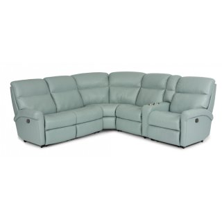 Davis Leather Reclining Sectional