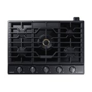 "30"" Chef Collection Gas Cooktop with 22K BTU Dual Power Burner in Matte Black Stainless Steel Product Image"