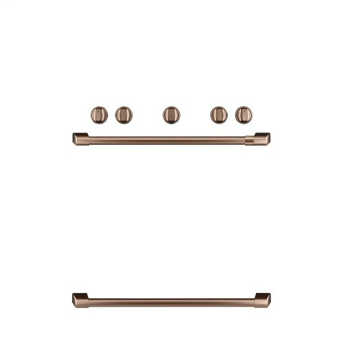 Café Freestanding Gas Knobs and Handles - Brushed Copper