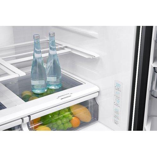 23 cu. ft. 4-Door French Door, Counter Depth Refrigerator with FlexZone Drawer in Black Stainless Steel