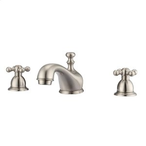 Marsala Widespread Lavatory Faucet with Metal Cross Handles - Brushed Nickel Product Image