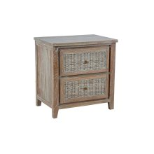 2 Drawer Night Stand, Available in Vintage Smoke Finsih Only.