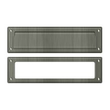 """Mail Slot 13 1/8"""" with Interior Frame - Antique Nickel"""