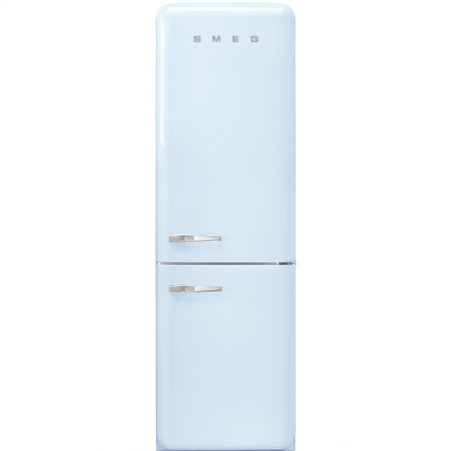 """Approx 24"""" 50'S Style refrigerator with automatic freezer, Pastel blue, Right hand hinge"""