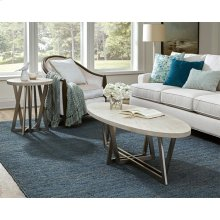 Lilly - Oval Coffee Table - Champagne Finish