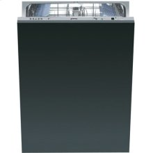 Smeg Fully Integrated Full Size Tub Dishwasher, Accepts Custom Panel, 24-Inch