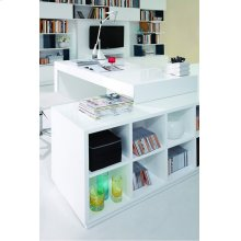 Modrest Soul - Modern Contemporary Office Desk with Attached Cabinet