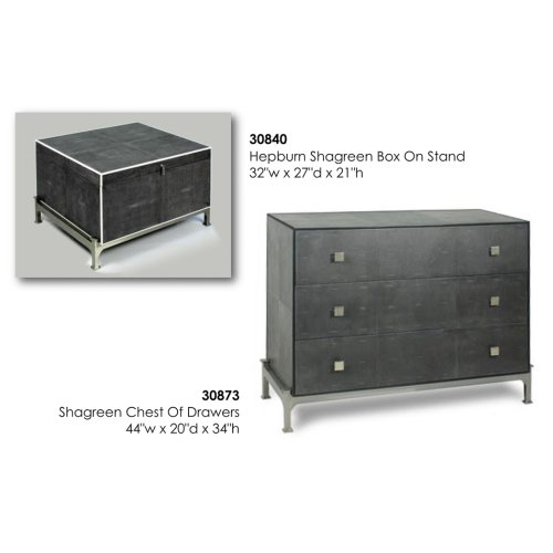 Midnight Shagreen Chest Of Drawers