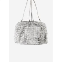 """Delphine ChandelierHand Woven Natural RopeManila Rope & Wire SuspensionShade 33""""w x 21""""hWhite Ag"""