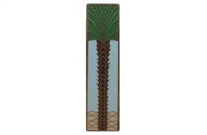 Royal Palm (Vertcal) - Antique Brass/Pale Blue Product Image