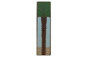 Royal Palm (Vertcal) - Antique Brass/Pale Blue Product Image