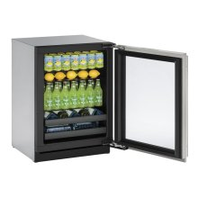 "24"" Beverage Center Stainless Frame Left-Hand Hinge"