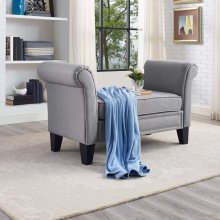 Rendezvous Bench in Light Gray