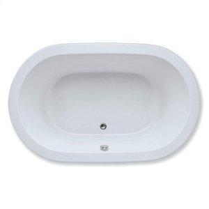 "Easy-Clean High Gloss Acrylic Surface, Oval, Soaking Bathtub, 42"" X 72"" Product Image"