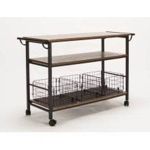 Server Cart Oak With basket