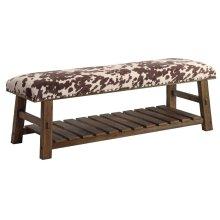 Mesquite Faux Cowhide Bench