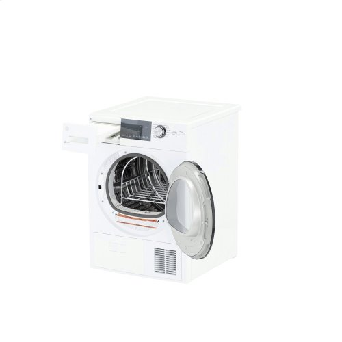 """GE® 24"""" 4.1 Cu.Ft. Front Load Ventless Condenser Electric Dryer with Stainless Steel Basket"""
