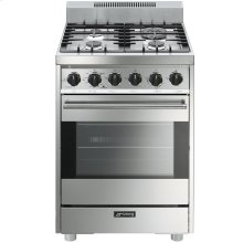 "Free-Standing Gas Range, 24"", Stainless Steel"