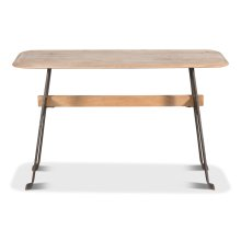 Pebble Desk, Lionskin, Iron Base