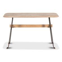 Pebble Desk, Lionskin, Iron Base