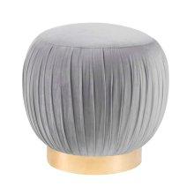 Tulip Grey Velvet Ottoman