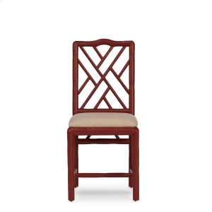 Brighton Bamboo Side Chair, Red