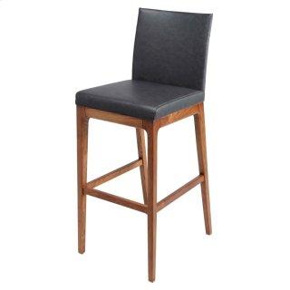 Devon KD PU Counter stool Walnut Legs, Antique Gray