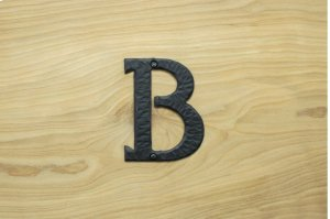 "B Black 4"" Mailbox House Number 450150 Product Image"