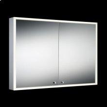 DOUBLE DOOR EDGE-LIT CABINET - Mirror