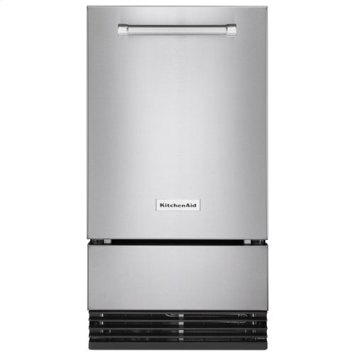 KitchenAid® 18'' Automatic Ice Maker with PrintShield™ Finish - Stainless Steel with PrintShield™ Finish