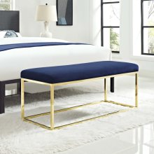 Anticipate Fabric Bench in Gold Navy