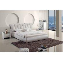 Modrest Modern White Leatherette Bed