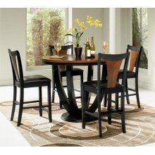 Boyer Collection 5 Piece Counter Height Dining Room Set